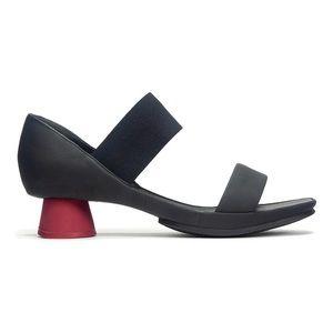 "Camper ""Alright"" Sandal Black with Red Heel Size 7"